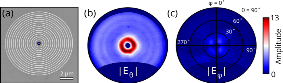 Images of a Plasmonic Bullseye Grating