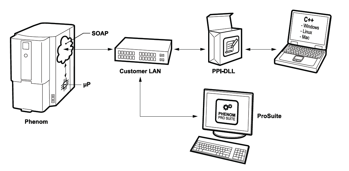 Schematic of the Phenom Programming Interface
