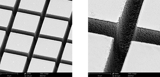 SEM image of ablated sample from Newport