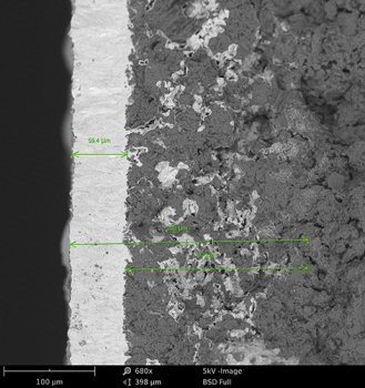 BSD image of a SiC film using the Phenom Scanning Electron Microscope