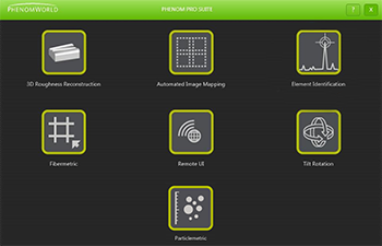 Phenom Pro Suite Interface for Phenom Scanning Electron Microscopes