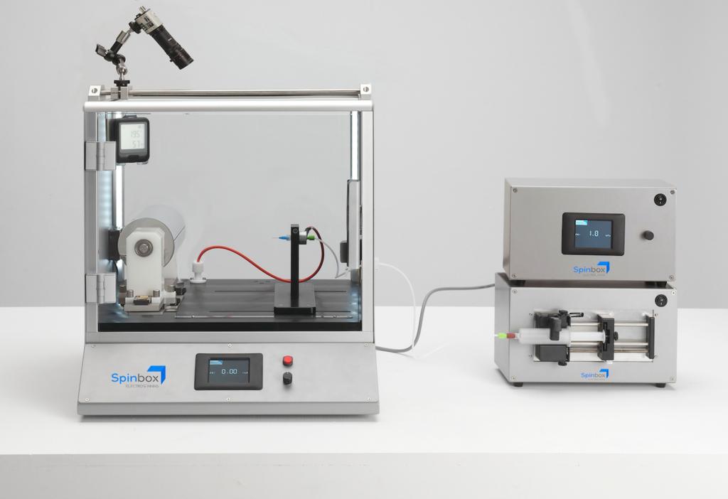 Spinbox electrospinner intermediate system