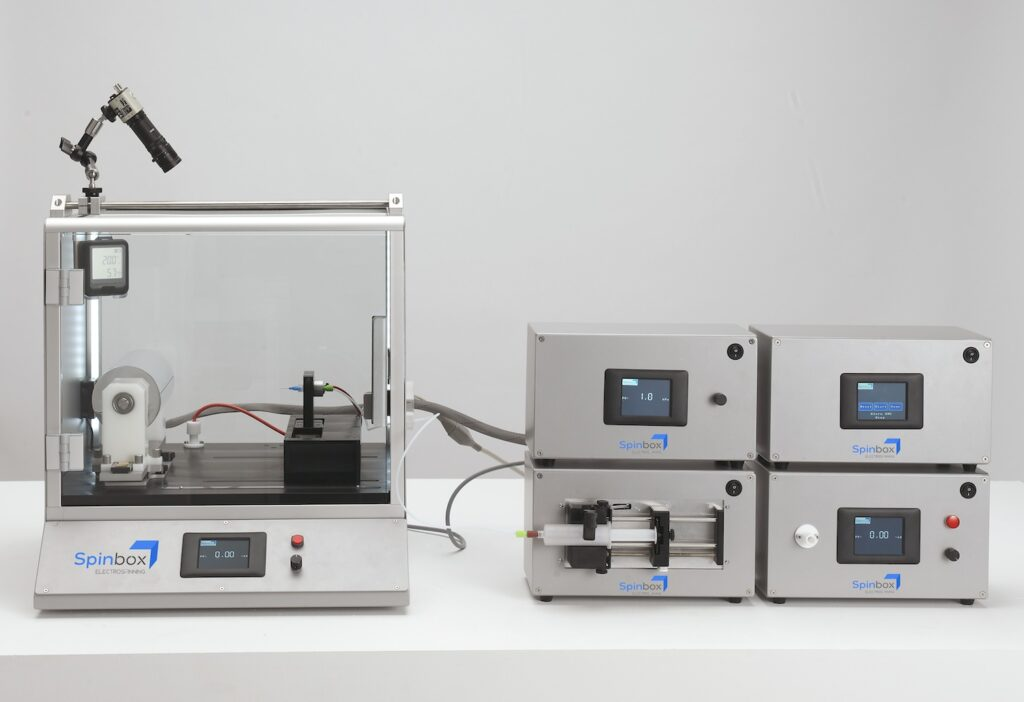 Spinbox electrospinner advanced system